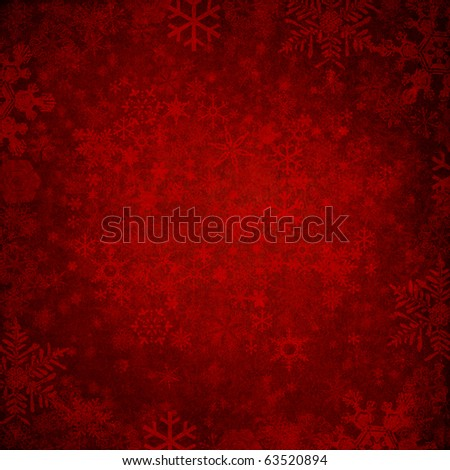 red winter grunge texture background - stock photo