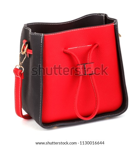 6ce7a523d0b9a Red women bag isolated on a white background  1130016644
