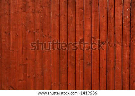 Red wooden fence texture - stock photo