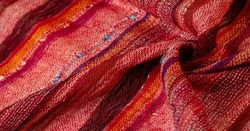 Red wool scarf. A quality and delicate scarf that gives an elegant and upscale look to any design. smooth sequined striped prints