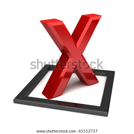 Red x check mark