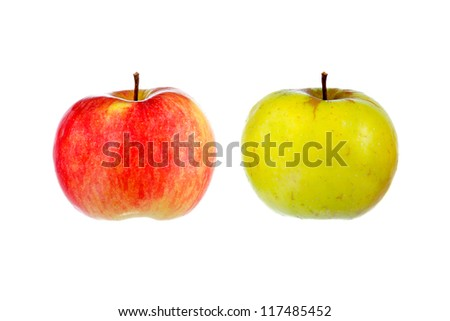red & yellow apple