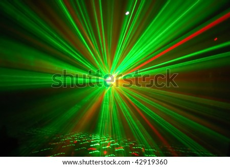 stock photo : Red, yellow, green on a black background