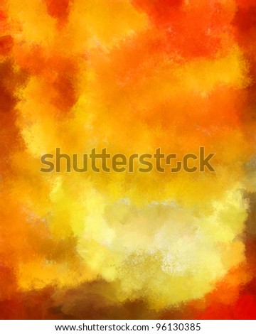 red-yellow painted watercolor background