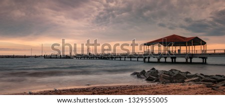 redcliffe jetty queensland #1329555005