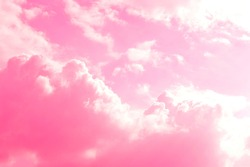 Reddish sky and pink with clouds