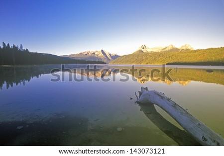Redfish Lake and Sawtooth Mountains at Sunrise, Idaho