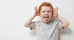 Redhead boy being a fun naughty boy