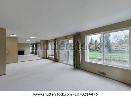 Redmond, WA / USA - April 13, 2018: Modern living room interior #1070214476