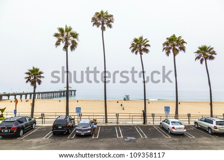 REDONDO BEACH, USA - JUNE 29:  Life guard hut at the beach to observe the swimmers on June 29, 2012 in Redondo Beach, USA. In 1918 first lifeguards started, employed by city of Los Angeles.
