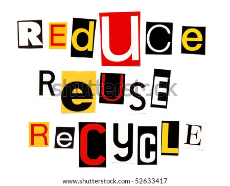 reduce reuse recycle logo. stock photo : reduce reuse