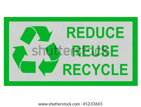 reduce reuse recycle logo. stock photo : Reduce, Reuse,