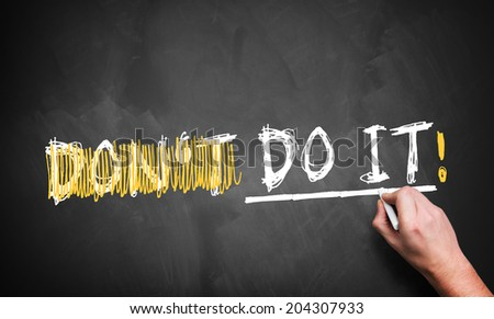 reducing the term \'don\'t do it\' to \'do it\'!