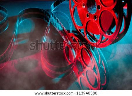Reel of film in bright light