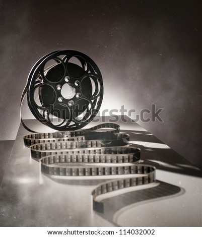 Reel of film in retro style