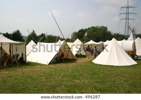 Reenactment Native American Camp