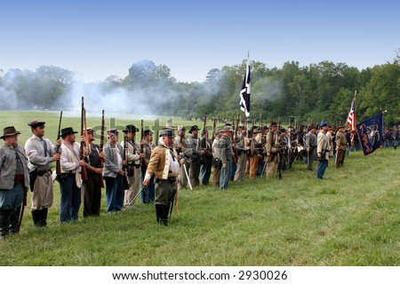 Reenactment of the American Civil War Battle of Tunnel Hill Ga. The original Battle occurred in May of 1864 and signaled the start of the Atlanta Campaign.