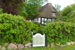 Reetdachhaus in Sieseby an der Schlei, Schleswig-Holstein, Deutschland