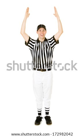 stock photo: referee showing touchdown