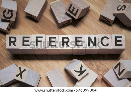Referencce Word In Wooden Cube #576099004