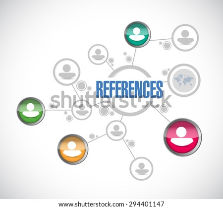 references people diagram sign concept illustration design graphic