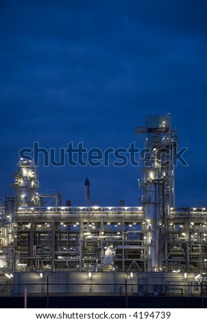 Refinery at night 9