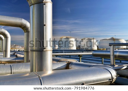 Refinery for the production of fuel - architecture and buildings of an industrial complex  #791984776