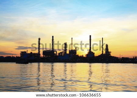 Refinery plant area at morning Time