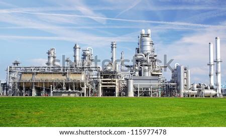 Refinery plant at Europort harbor, Rotterdam #115977478