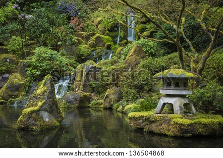 Reflecting pond in a Japanese garden