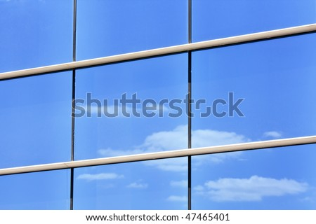 reflection in modern windows