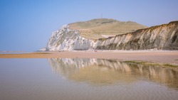 Reflection in the water of the Cap Blanc Nez