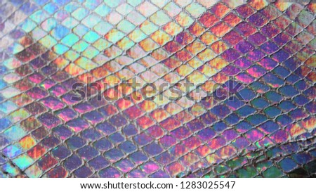 reflection iridescent holographic background pattern texture mermaid/unicorn fantasy background concept Holographic surface wrinkled foil pastel. Real Hologram Background of wrinkled abstract stock