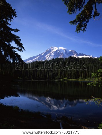Reflection Lake and Mt. Rainier in Mt. rainier National Park, Washington state.