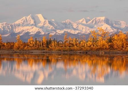 Reflection of Alaskan Range