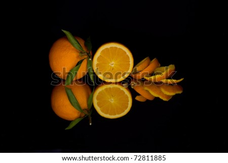 Reflection of an orange
