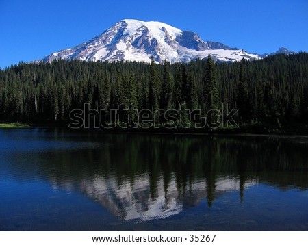 Reflection of Mount Ranier