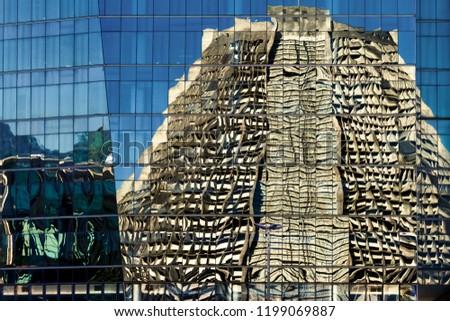 Reflection of the Metropolitan Cathedral of Rio de Janeiro (Brazil) on an office building #1199069887