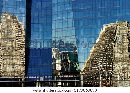 Reflection of the Metropolitan Cathedral of Rio de Janeiro (Brazil) on an office building #1199069890