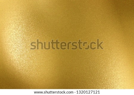 Reflection of wave gold stainless, texture background
