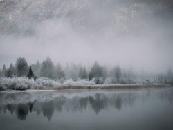 Reflection on Lake Bohinj, Slovenia