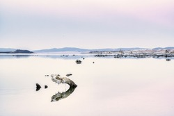Reflection on the Salty Mono Lake, California, USA