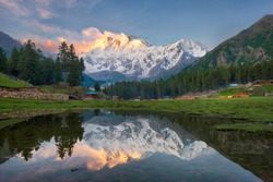 Reflection Pond on the Fairy Meadows, Nanga Parbat, Pakistan, taken in August 2019