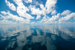 reflections from the sky in the maldives