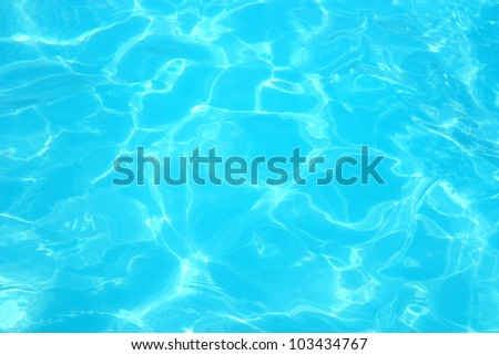 Reflections on a surface of a water in a pool