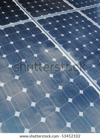 reflections on solar panel