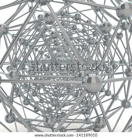 Reflective molecular structure