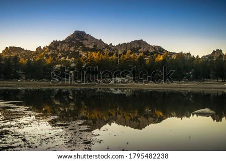 Refletions on Hanson Lagoon, Baja California  Foto stock ©