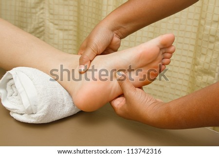 reflexology foot massage, foot spa treatment