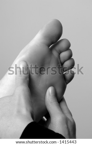 Reflexology Foot Massage Therapy - stock photo